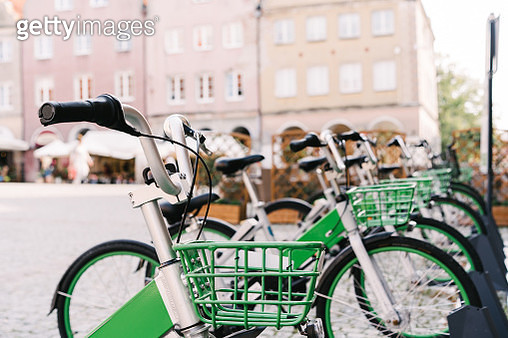 Bike rental on the town square - gettyimageskorea