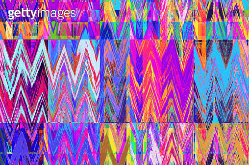 Bright colorful zigzag abstract background - gettyimageskorea
