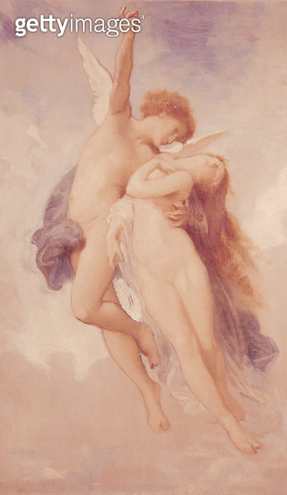 <b>Title</b> : Cupid and Psyche, 1889 (oil on canvas)<br><b>Medium</b> : oil on canvas<br><b>Location</b> : Private Collection<br> - gettyimageskorea