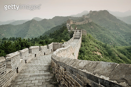 China, View of Great Wall of China - gettyimageskorea