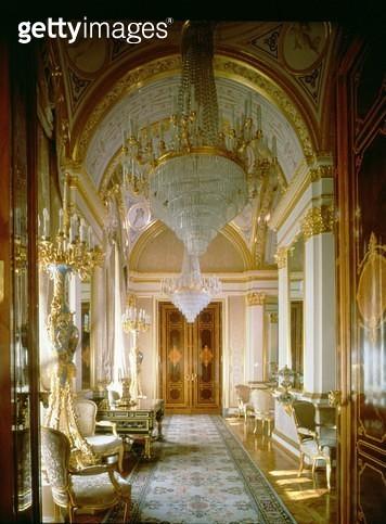 <b>Title</b> : Interior of the Private Apartments of the Great Kremlin Palace, Moscow<br><b>Medium</b> : <br><b>Location</b> : Credit: Bridgeman Art Library, London<br> - gettyimageskorea