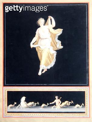 <b>Title</b> : Copy of a Pompeian allegorical painting, a panoramic wallpaper design, c,1790<br><b>Medium</b> : <br><b>Location</b> : Deutsches Tapetenmuseum, Kassel, Germany<br> - gettyimageskorea