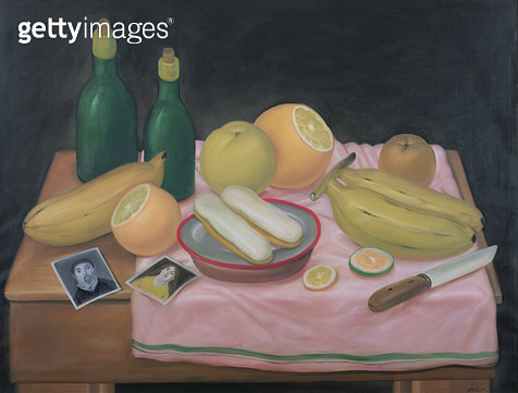 <b>Title</b> : Still Life with Photographs, 1982 (oil on canvas)Additional InfoBodegon con Fotografia;<br><b>Medium</b> : oil on canvas<br><b>Location</b> : Private Collection<br> - gettyimageskorea