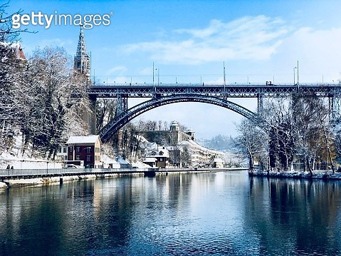 Low Angle View Of Arch Bridge Over River Against Sky - gettyimageskorea
