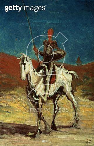 <b>Title</b> : Don Quixote, c.1865-1870 (oil on canvas)<br><b>Medium</b> : oil on canvas<br><b>Location</b> : Neue Pinakothek, Munich, Germany<br> - gettyimageskorea