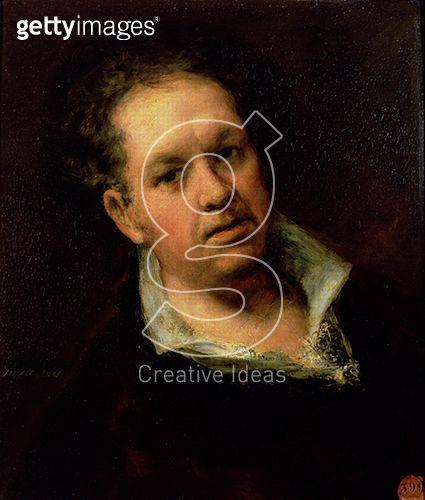 <b>Title</b> : Self Portrait, 1815 (oil on canvas)<br><b>Medium</b> : oil on canvas<br><b>Location</b> : Real Academia de Bellas Artes de San Fernando, Madrid, Spain<br> - gettyimageskorea