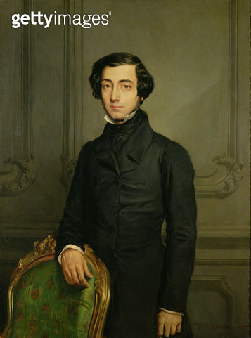 <b>Title</b> : Charles-Alexis-Henri Clerel de Tocqueville (1805-59) 1850 (oil on canvas)<br><b>Medium</b> : oil on canvas<br><b>Location</b> : Chateau de Versailles, France<br> - gettyimageskorea