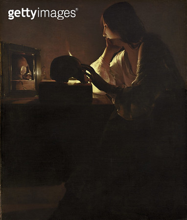 The Repentant Magdalen/ 1635-40 (oil on canvas) - gettyimageskorea