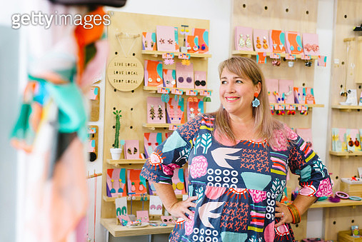 Mature woman business owner in store - gettyimageskorea