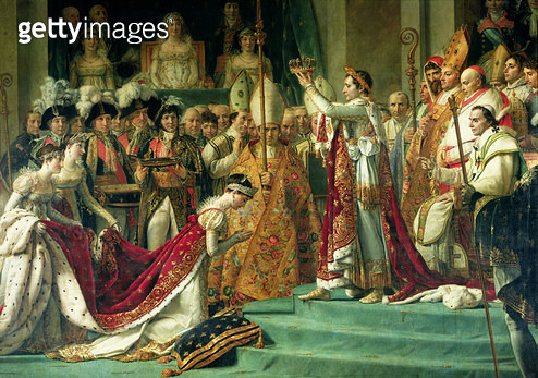 <b>Title</b> : The Consecration of the Emperor Napoleon (1769-1821) and the Coronation of the Empress Josephine (1763-1814) by Pope Pius VII, 2nd December 1804, 1806-07 (oil on canvas) (detail of 18412)<br><b>Medium</b> : oil on canvas<br><b>Location</b>  - gettyimageskorea