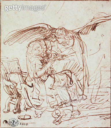 Annunciation (drawing) - gettyimageskorea