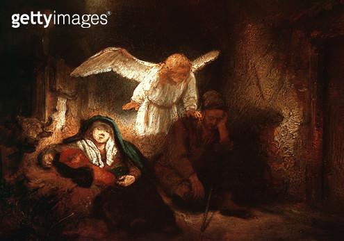 <b>Title</b> : Joseph's Dream in the Stable in Bethlehem<br><b>Medium</b> : <br><b>Location</b> : Ehemals Staatliche Museum, Berlin, Germany<br> - gettyimageskorea