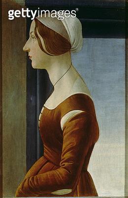 <b>Title</b> : Portrait of a Woman (the Beautiful Simonetta)<br><b>Medium</b> : <br><b>Location</b> : Galleria Palatina, Palazzo Pitti, Florence, Italy<br> - gettyimageskorea