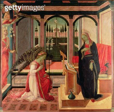 <b>Title</b> : Annunciation<br><b>Medium</b> : <br><b>Location</b> : Galleria dell' Accademia, Florence, Italy<br> - gettyimageskorea