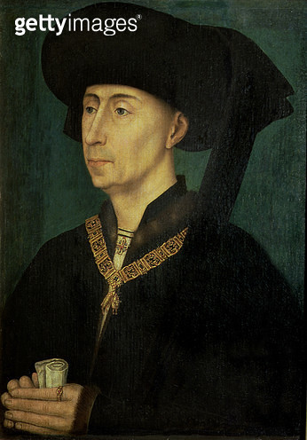 <b>Title</b> : Portrait of Philip the Good (1396-1467) Duke of Burgundy<br><b>Medium</b> : Tempera on panel<br><b>Location</b> : Musee Communal, Bruges, Belgium<br> - gettyimageskorea