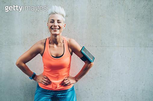 Happy sportswoman - gettyimageskorea