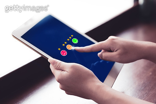 Review, Rating,Satisfaction concept - gettyimageskorea