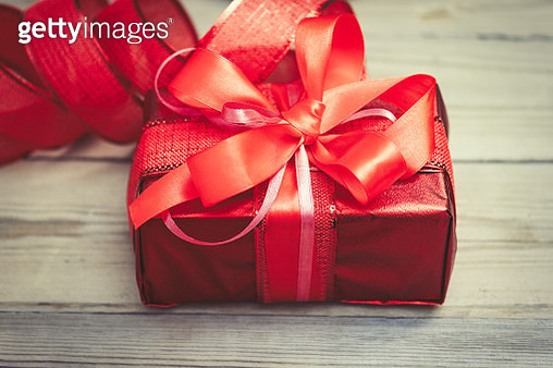 Close-Up Of Gift Box On Table - gettyimageskorea