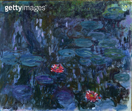 <b>Title</b> : Waterlilies with Reflections of a Willow Tree, 1916-19 (oil on canvas)<br><b>Medium</b> : oil on canvas<br><b>Location</b> : Musee Marmottan, Paris, France<br> - gettyimageskorea