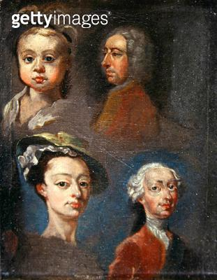 <b>Title</b> : Study of Heads (oil on canvas)<br><b>Medium</b> : oil on canvas<br><b>Location</b> : Yale Center for British Art, Paul Mellon Collection, USA<br> - gettyimageskorea
