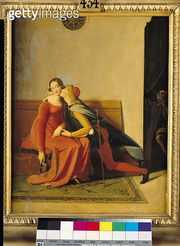 <b>Title</b> : Gianciotto Discovers Paolo and Francesca, 1814 (oil on canvas)Additional Infofrom Dante's 'Paolo and Francesca da Rimini';<br><b>Medium</b> : <br><b>Location</b> : Musee Conde, Chantilly, France<br> - gettyimageskorea