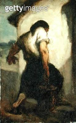 <b>Title</b> : Water Carrier (oil on canvas)<br><b>Medium</b> : oil on canvas<br><b>Location</b> : The Barnes Foundation, Merion, Pennsylvania, USA<br> - gettyimageskorea