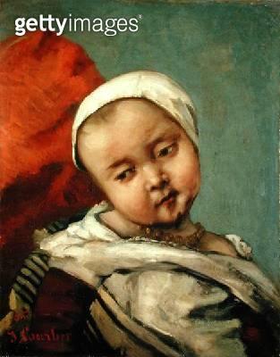 <b>Title</b> : Head of a Baby, 1865 (oil on canvas)<br><b>Medium</b> : oil on canvas<br><b>Location</b> : The Barnes Foundation, Merion, Pennsylvania, USA<br> - gettyimageskorea