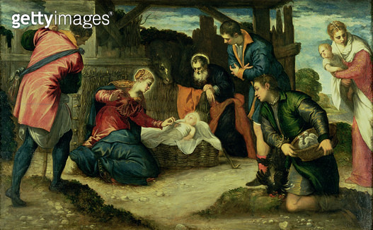 <b>Title</b> : The Adoration of the Shepherds, 1540s (oil on canvas)<br><b>Medium</b> : oil on canvas<br><b>Location</b> : Fitzwilliam Museum, University of Cambridge, UK<br> - gettyimageskorea