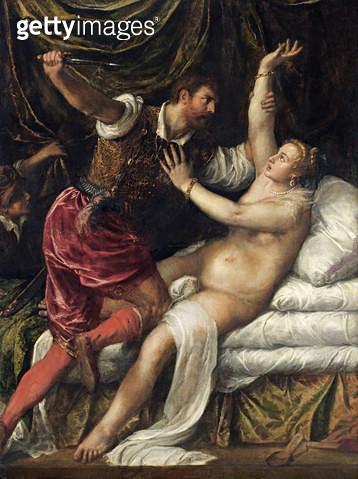 <b>Title</b> : Tarquin and Lucretia, c.1568-76<br><b>Medium</b> : <br><b>Location</b> : Fitzwilliam Museum, University of Cambridge, UK<br> - gettyimageskorea