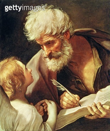 <b>Title</b> : Saint Matthew (oil on canvas)<br><b>Medium</b> : oil on canvas<br><b>Location</b> : Vatican Museums and Galleries, Vatican City, Italy<br> - gettyimageskorea