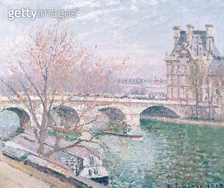 <b>Title</b> : The Pont-Royal and the Pavillon de Flore, 1903 (oil on canvas<br><b>Medium</b> : oil on canvas<br><b>Location</b> : Musee de la Ville de Paris, Musee du Petit-Palais, France<br> - gettyimageskorea