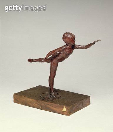 <b>Title</b> : Arabesque over the right leg, left arm in front, c.1882-95, red wax sculpture by Edgar Degas (1834-1917)<br><b>Medium</b> : red wax<br><b>Location</b> : Fitzwilliam Museum, University of Cambridge, UK<br> - gettyimageskorea