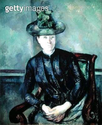 <b>Title</b> : Woman with Green Hat, c.1894 (oil on canvas)<br><b>Medium</b> : <br><b>Location</b> : The Barnes Foundation, Merion, Pennsylvania, USA<br> - gettyimageskorea