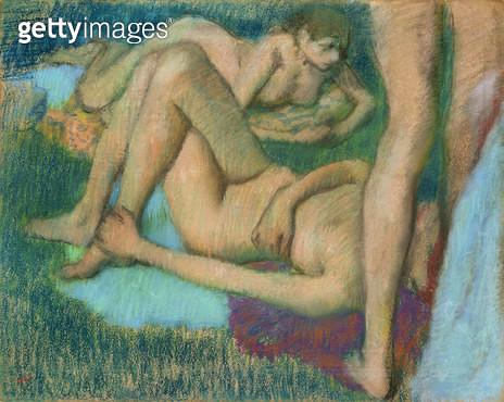 <b>Title</b> : Studies of the Nude (pastel on paper)<br><b>Medium</b> : pastel on paper<br><b>Location</b> : The Barnes Foundation, Merion, Pennsylvania, USA<br> - gettyimageskorea