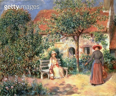 <b>Title</b> : Garden Scene in Brittany, c.1886 (oil on canvas)Additional InfoScene de Jardin en Bretagne;<br><b>Medium</b> : oil on canvas<br><b>Location</b> : The Barnes Foundation, Merion, Pennsylvania, USA<br> - gettyimageskorea