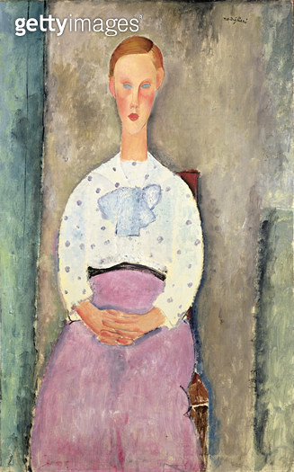 <b>Title</b> : Girl with a Polka-Dot Blouse, 1919 (oil on canvas)Additional InfoJeune Fille au Corsage a Pois;<br><b>Medium</b> : oil on canvas<br><b>Location</b> : The Barnes Foundation, Merion, Pennsylvania, USA<br> - gettyimageskorea