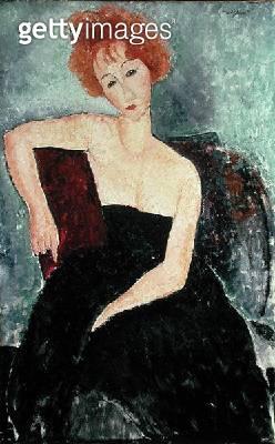 <b>Title</b> : Red Headed Woman (oil on canvas)<br><b>Medium</b> : <br><b>Location</b> : The Barnes Foundation, Merion, Pennsylvania, USA<br> - gettyimageskorea