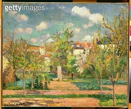 <b>Title</b> : Garden, c.1876 (oil on canvas)<br><b>Medium</b> : <br><b>Location</b> : The Barnes Foundation, Merion, Pennsylvania, USA<br> - gettyimageskorea