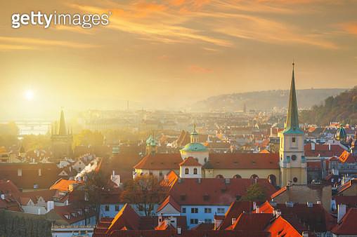 Prague cityscape at sunrise - gettyimageskorea