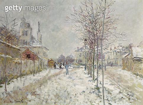 <b>Title</b> : Snow Effect (oil on canvas)<br><b>Medium</b> : oil on canvas<br><b>Location</b> : Kunsthalle, Basel, Switzerland<br> - gettyimageskorea