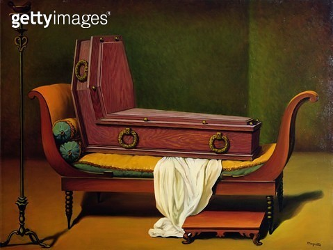 Perspective: Madame Recamier de David, 1950 (oil on canvas) - gettyimageskorea