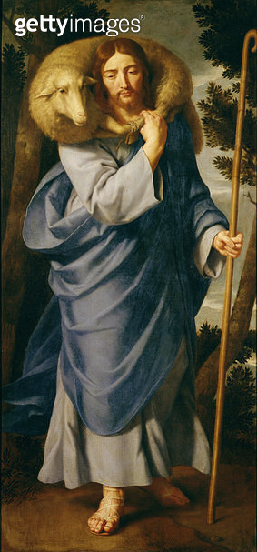 <b>Title</b> : The Good Shepherd (oil on canvas)<br><b>Medium</b> : oil on canvas<br><b>Location</b> : Musee des Beaux-Arts, Lille, France<br> - gettyimageskorea