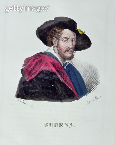 Peter Paul Rubens (1577-1640)/ by Dolfino (coloured mezzotint) - gettyimageskorea