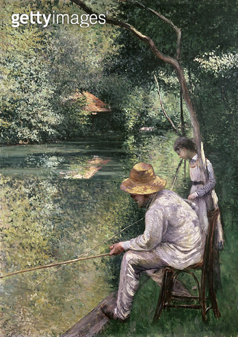 <b>Title</b> : Angling, 1878 (oil on canvas)<br><b>Medium</b> : <br><b>Location</b> : Private Collection<br> - gettyimageskorea