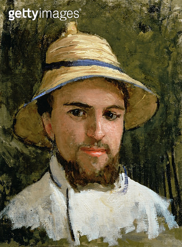 <b>Title</b> : Self Portrait with Pith Helmet (oil on canvas)<br><b>Medium</b> : <br><b>Location</b> : Private Collection<br> - gettyimageskorea