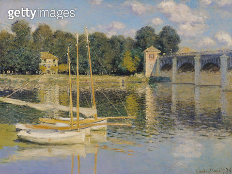 <b>Title</b> : The Bridge at Argenteuil, 1874 (oil on canvas)<br><b>Medium</b> : oil on canvas<br><b>Location</b> : Musee d'Orsay, Paris, France<br> - gettyimageskorea