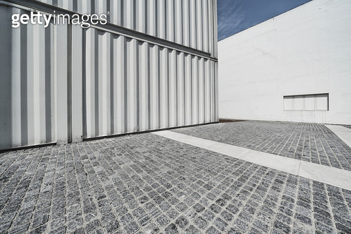 Cargo Containers, Parking Lot - gettyimageskorea