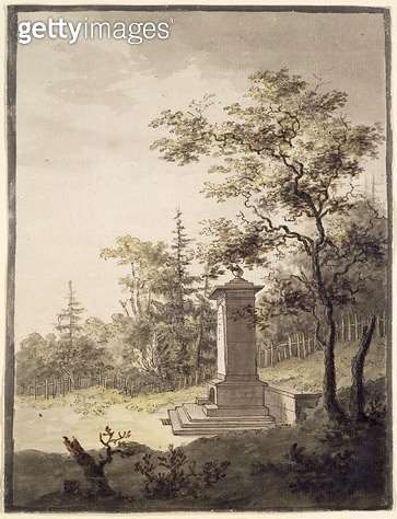 <b>Title</b> : Emilias Kilde, 1797 (pen & ink and w/c on paper)<br><b>Medium</b> : pen & ink and watercolour on paper<br><b>Location</b> : Hamburger Kunsthalle, Hamburg, Germany<br> - gettyimageskorea