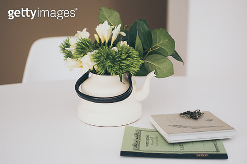 Close-Up Of Plant On Table At Home - gettyimageskorea