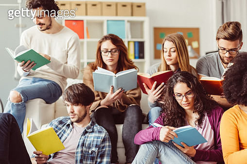 Students preparing for exams in the campus library - gettyimageskorea